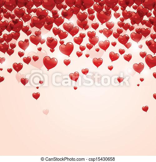 vecteur, romantique, fond - csp15430658
