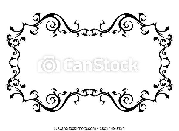 vendange, cadre, vecteur, décoratif - csp34490434
