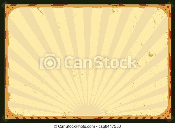 vendange, cirque, affiche - csp8447550