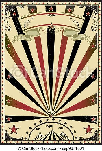 vendange, cirque, rayons soleil - csp9671601