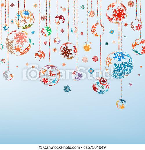 vendange, eps, year., joyeux, 8, nouveau, noël, heureux - csp7561049
