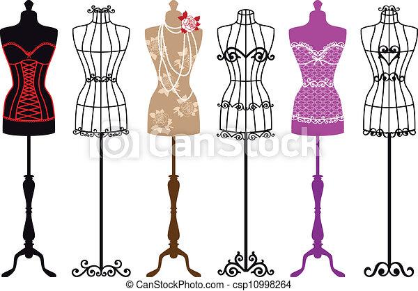 vendange, mode, mannequins - csp10998264