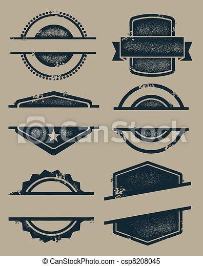 vendange, timbres, vide, cachets - csp8208045