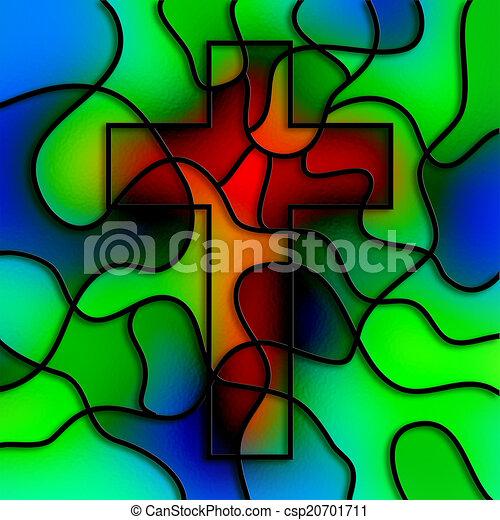 verre, taché, croix - csp20701711