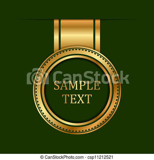 vert, or, fond, étiquette - csp11212521
