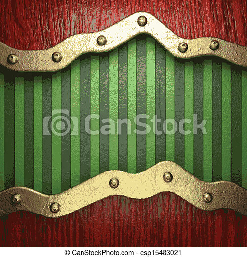 vert, or, fond - csp15483021