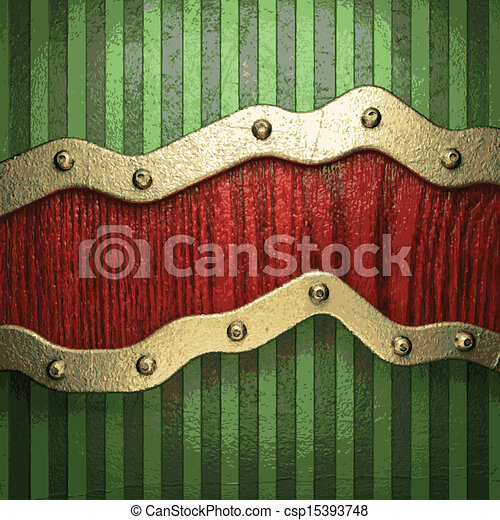 vert, or, fond - csp15393748