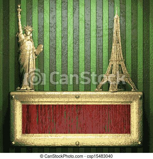 vert, or, fond - csp15483040