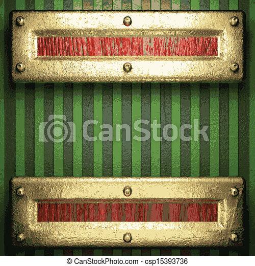 vert, or, fond - csp15393736