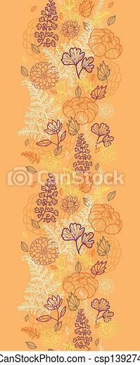 vertical, modèle, feuilles, seamless, fleurs, frontière, désert - csp13927400