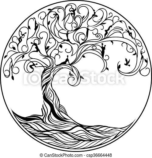 vie, arbre - csp36664448