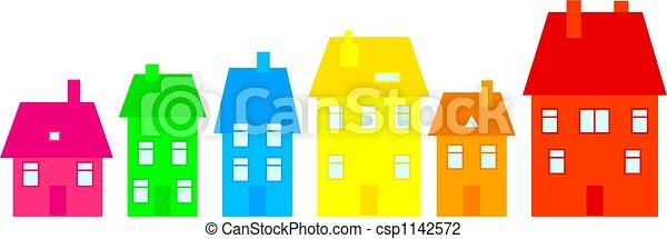 ville, coloré - csp1142572