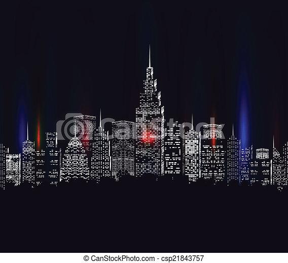 ville, coloré - csp21843757