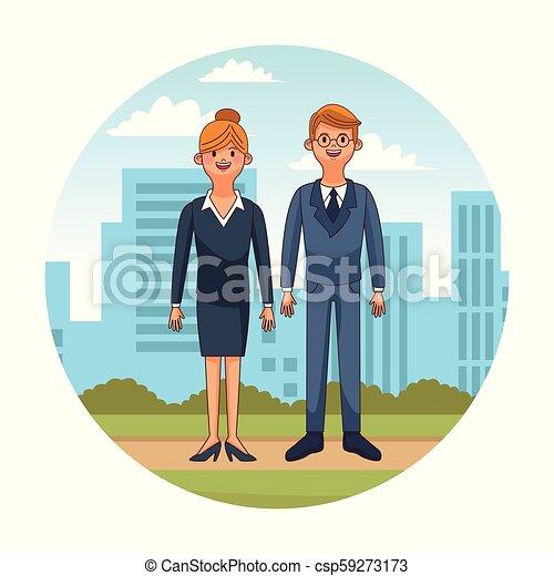 ville, couple, jeune - csp59273173