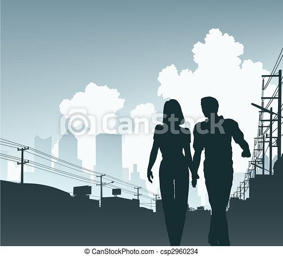 ville, couple - csp2960234