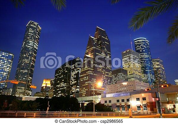 ville, dallas, en ville, bulidings, urbain, vue - csp2986565