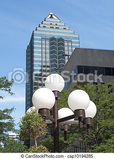 ville, gratte-ciel, lumières - csp10194285