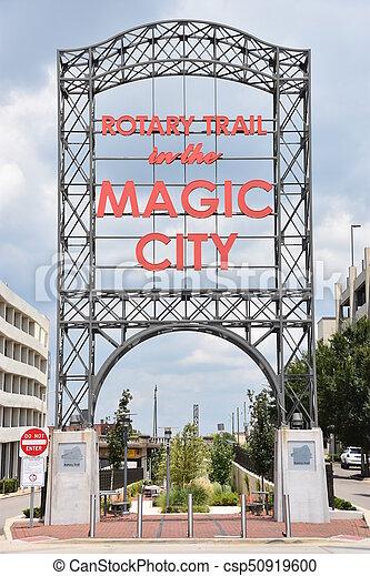 ville, magie, birmingham, signe - csp50919600