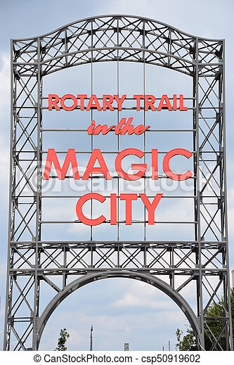 ville, magie, birmingham, signe - csp50919602