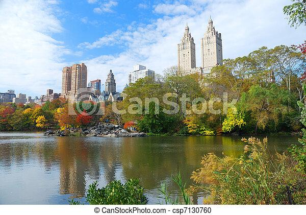 ville, parc central, automne, york, nouveau - csp7130760