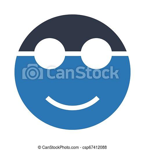 visage heureux - csp67412088
