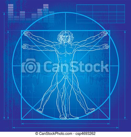 vitruvian, (blueprint, version), homme - csp4693262