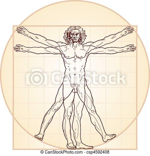 vitruvian, (homo, homme, vitruviano) - csp4592408
