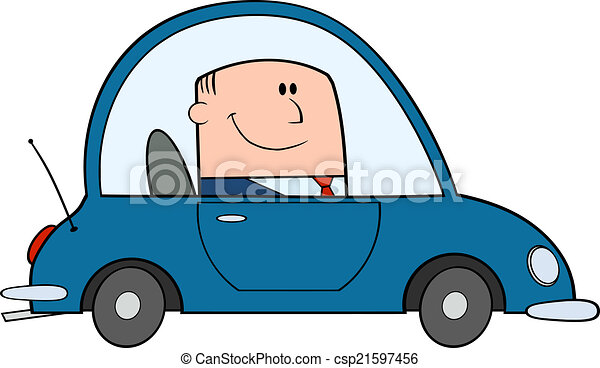 voiture, conduite, homme affaires - csp21597456