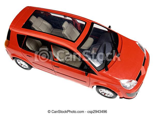 voiture, jouet, rouges - csp2943496