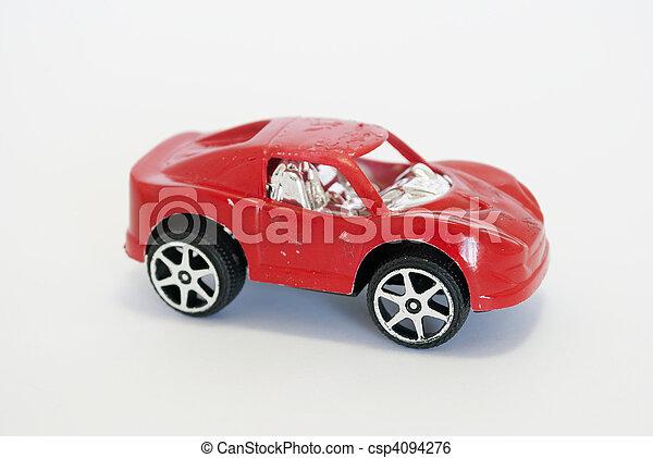 voiture, jouet, rouges - csp4094276