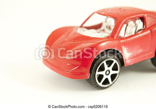 voiture, jouet, rouges - csp5206116