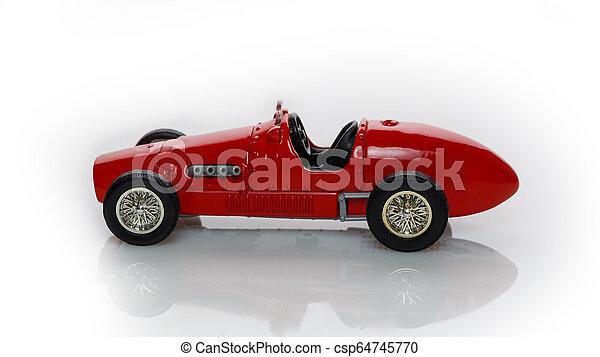 voiture, jouet, rouges - csp64745770