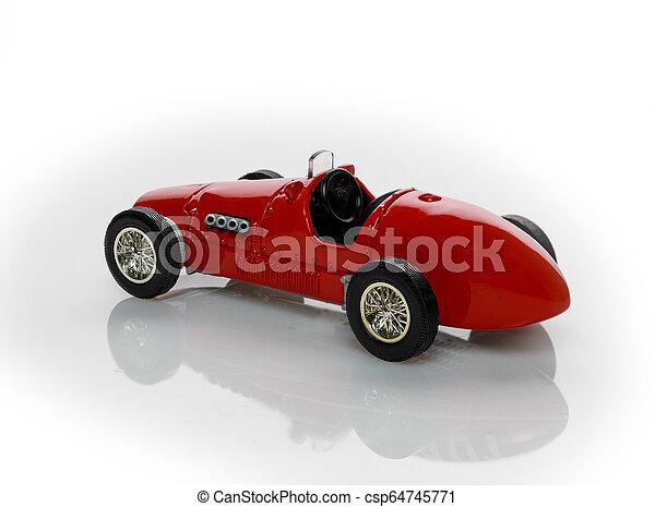 voiture, jouet, rouges - csp64745771