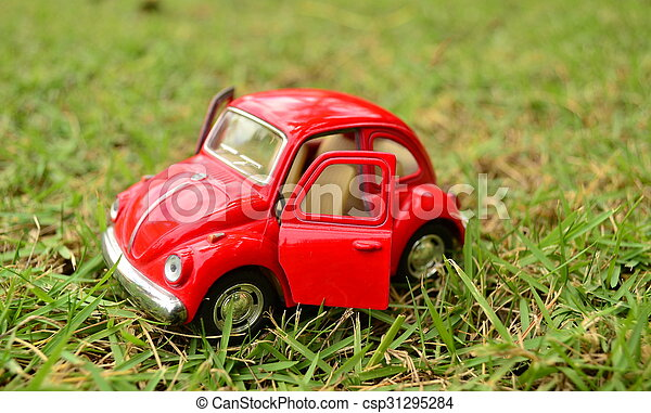 voiture, jouet, rouges - csp31295284
