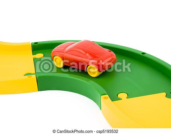 voiture, jouet, rouges - csp5193532