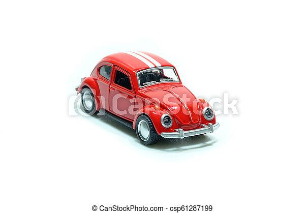 voiture, jouet, rouges - csp61287199
