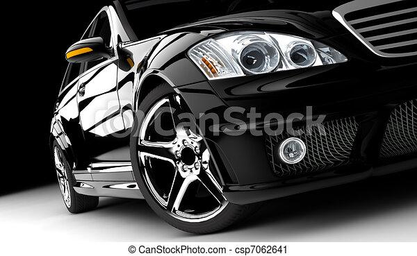 voiture, noir - csp7062641