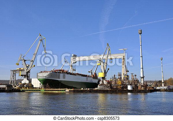 voiture, porteur, docks - csp8305573