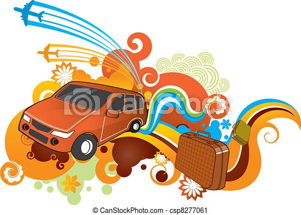 voiture, voyage - csp8277061