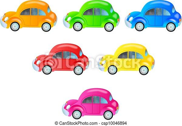 voitures, coloré - csp10046894