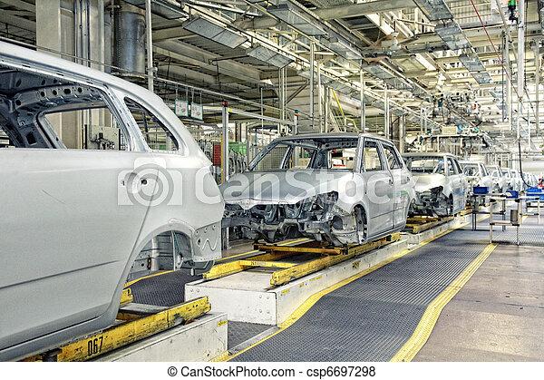 voitures, plante, rang, voiture - csp6697298