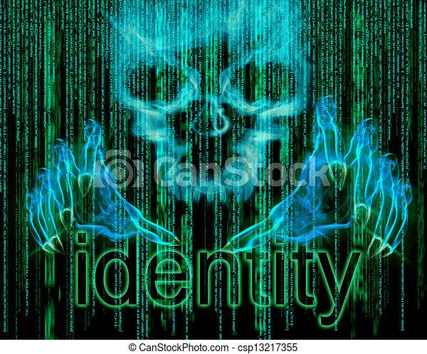 vol identité, concept - csp13217355
