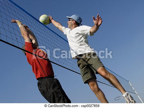 volley-ball plage - csp0027859