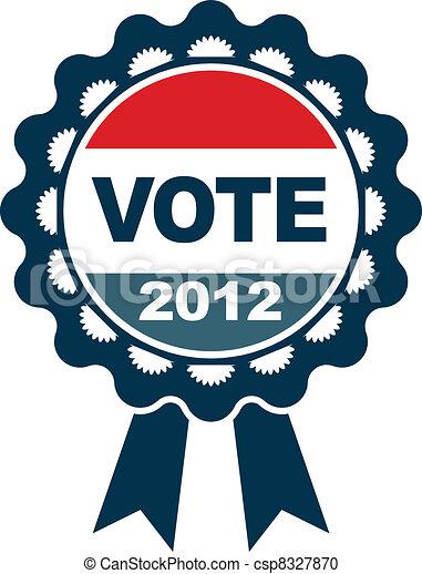 vote, écusson, 2012 - csp8327870