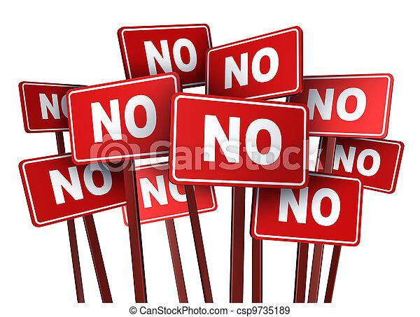 vote, non, campagne - csp9735189