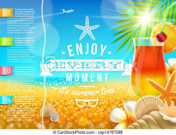 voyage, vacances, grandes vacances, vecteur, conception - csp14787088