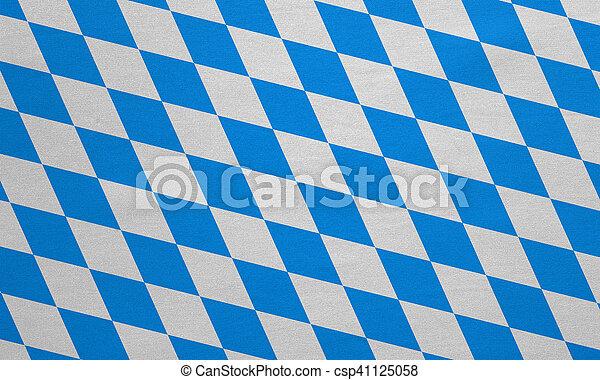 vrai, détaillé, bavière, tissu, texture, drapeau - csp41125058