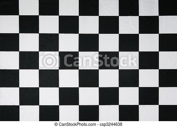 vrai, drapeau, checkered - csp3244638