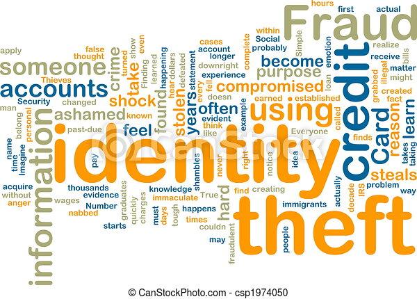 wordcloud, vol identité - csp1974050
