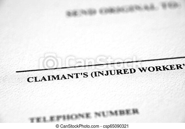 worker's, ouvriers, plainte, formulaire, compensation - csp65090321